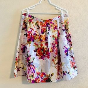 The Limited Floral Flare Skirt XL